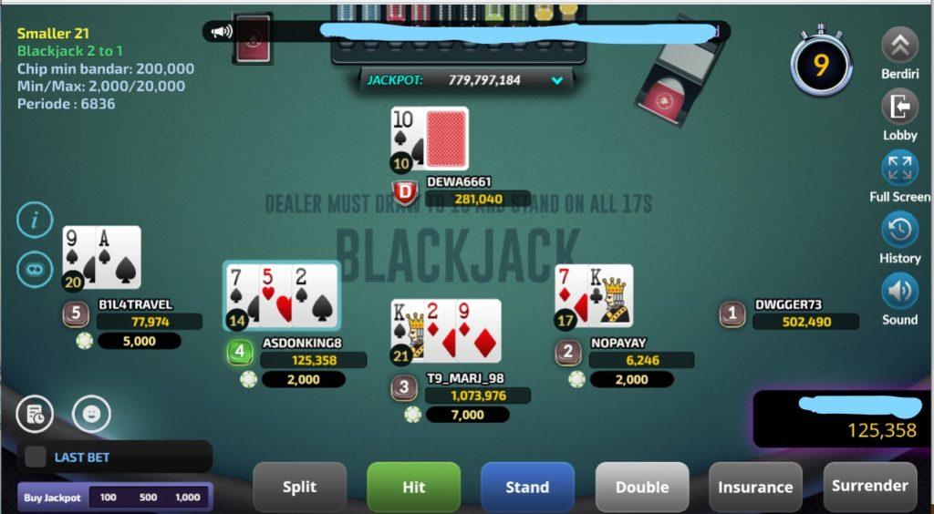 Permainan Judi Blackjack Baru Disitus IDN Poker